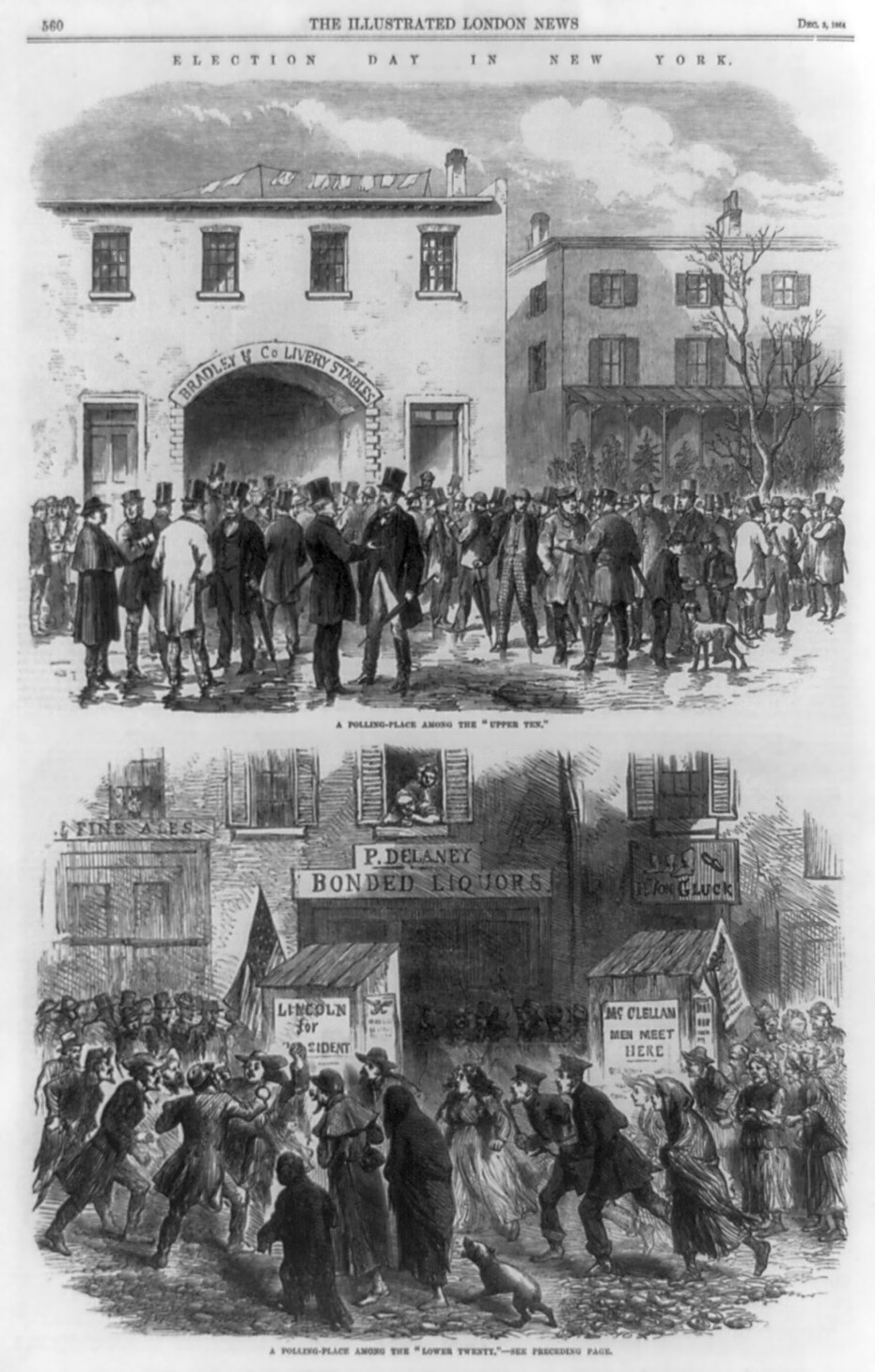 File Election Day New York 1864 Illustrated London News
