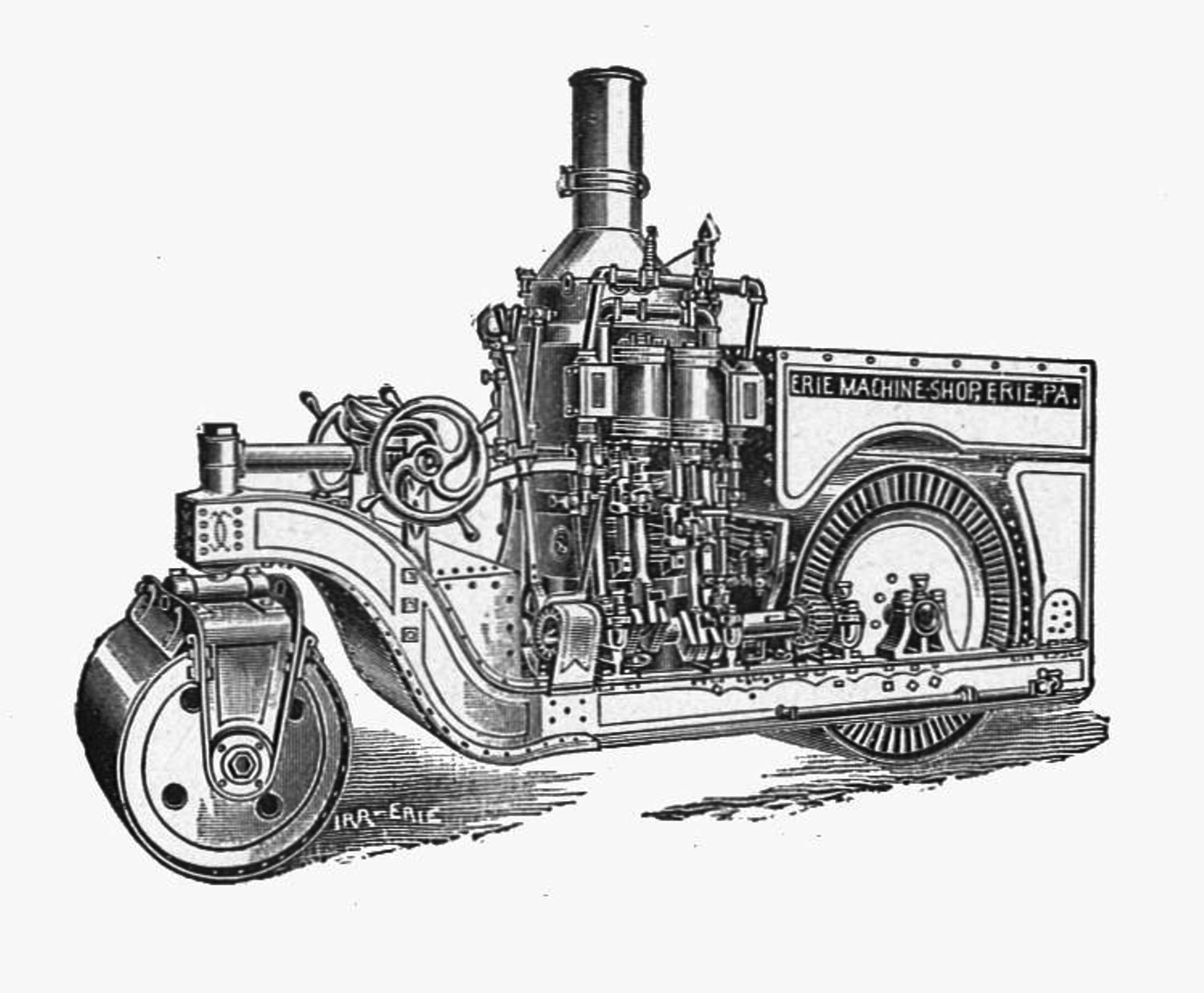 File:Erie steam road roller (New Catechism of the Steam ...