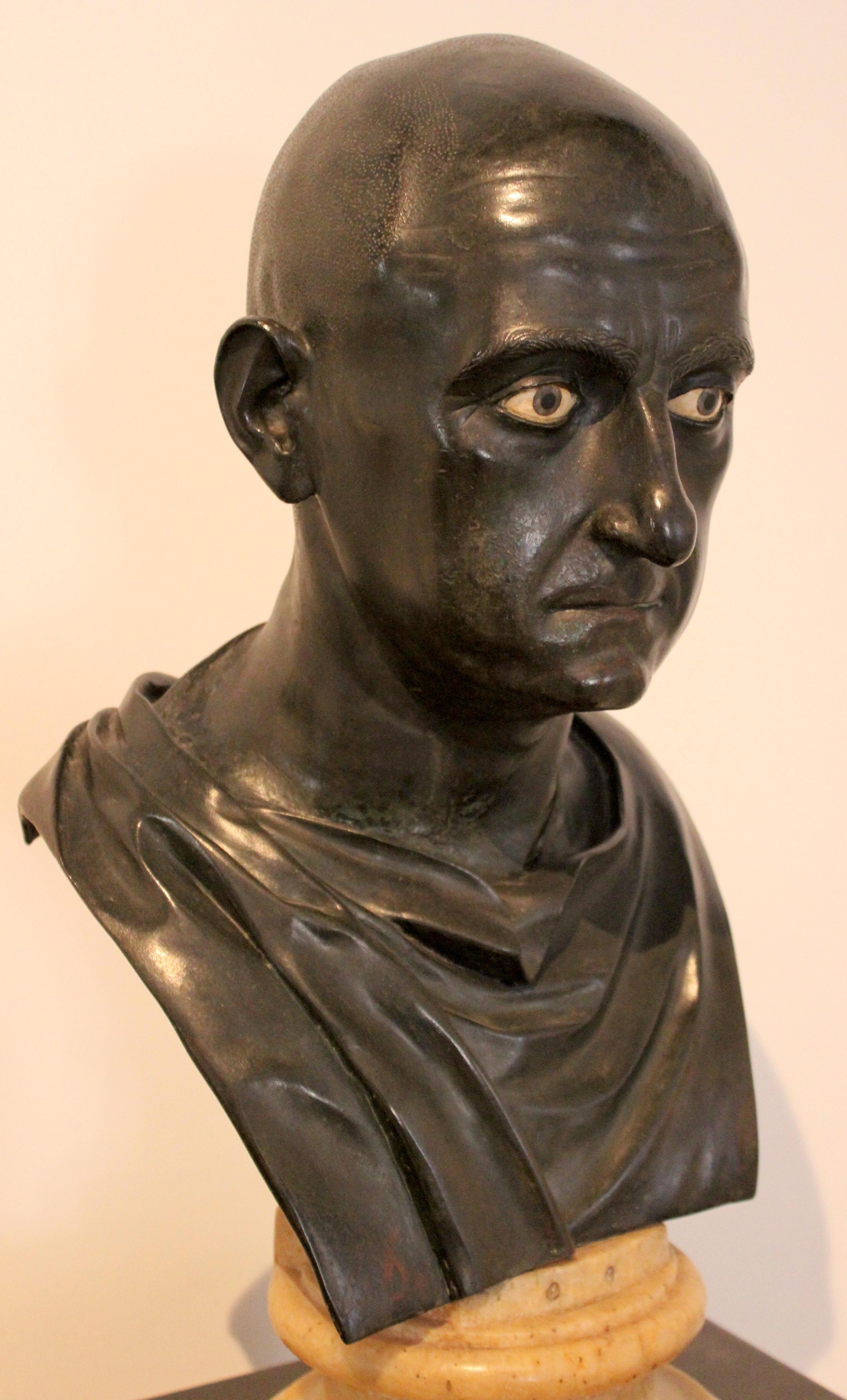 Escipión el Africano. Busto de la época en el Museo Nacional de Nápoles..
