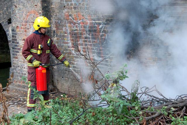 File:Firefighting beside the Regents Canal, Islington (1) - geograph.org.uk - 1522185.jpg