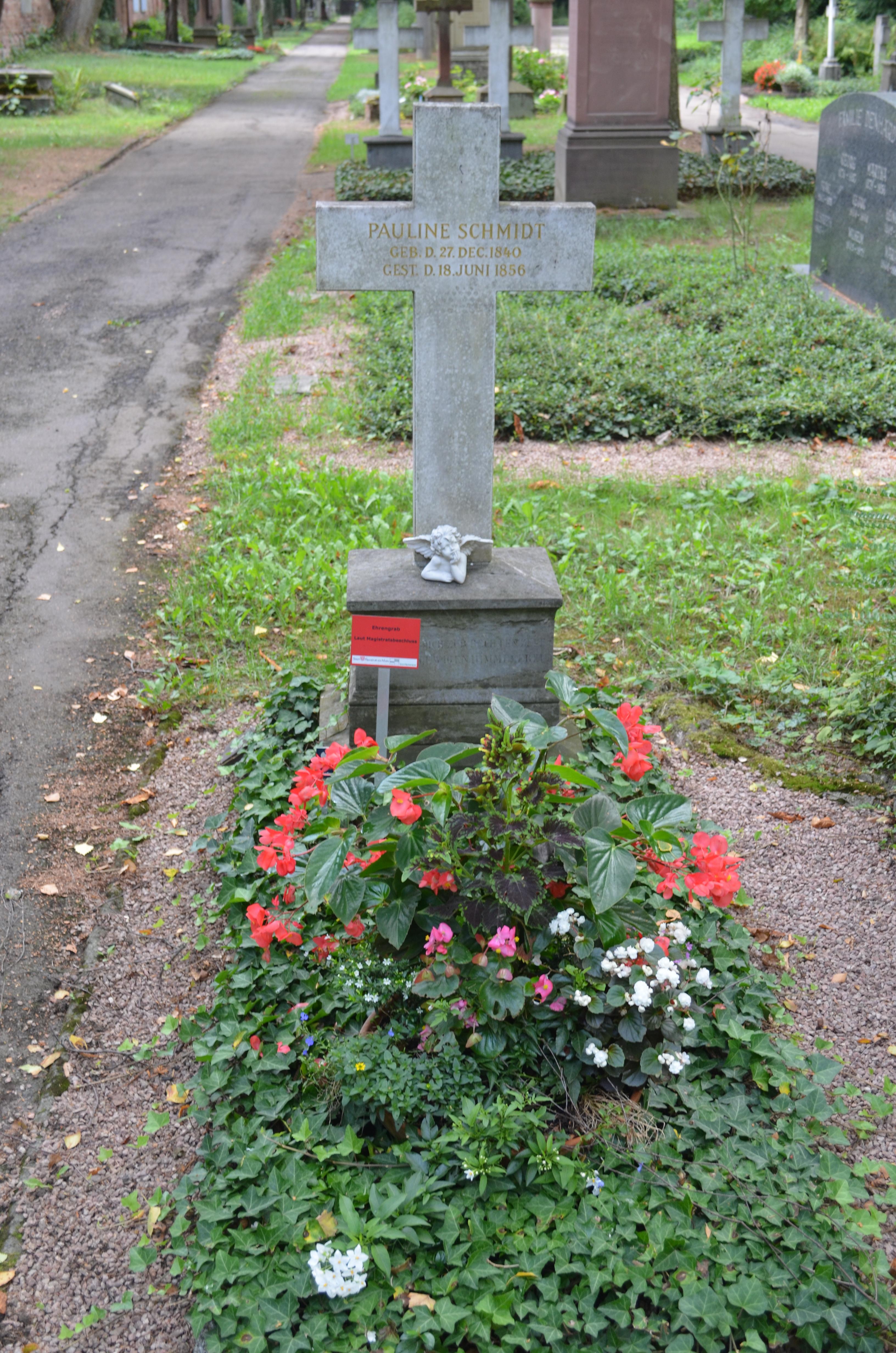 Dateifrankfurt Hauptfriedhof Grab C 148 Pauline Schmidtjpg