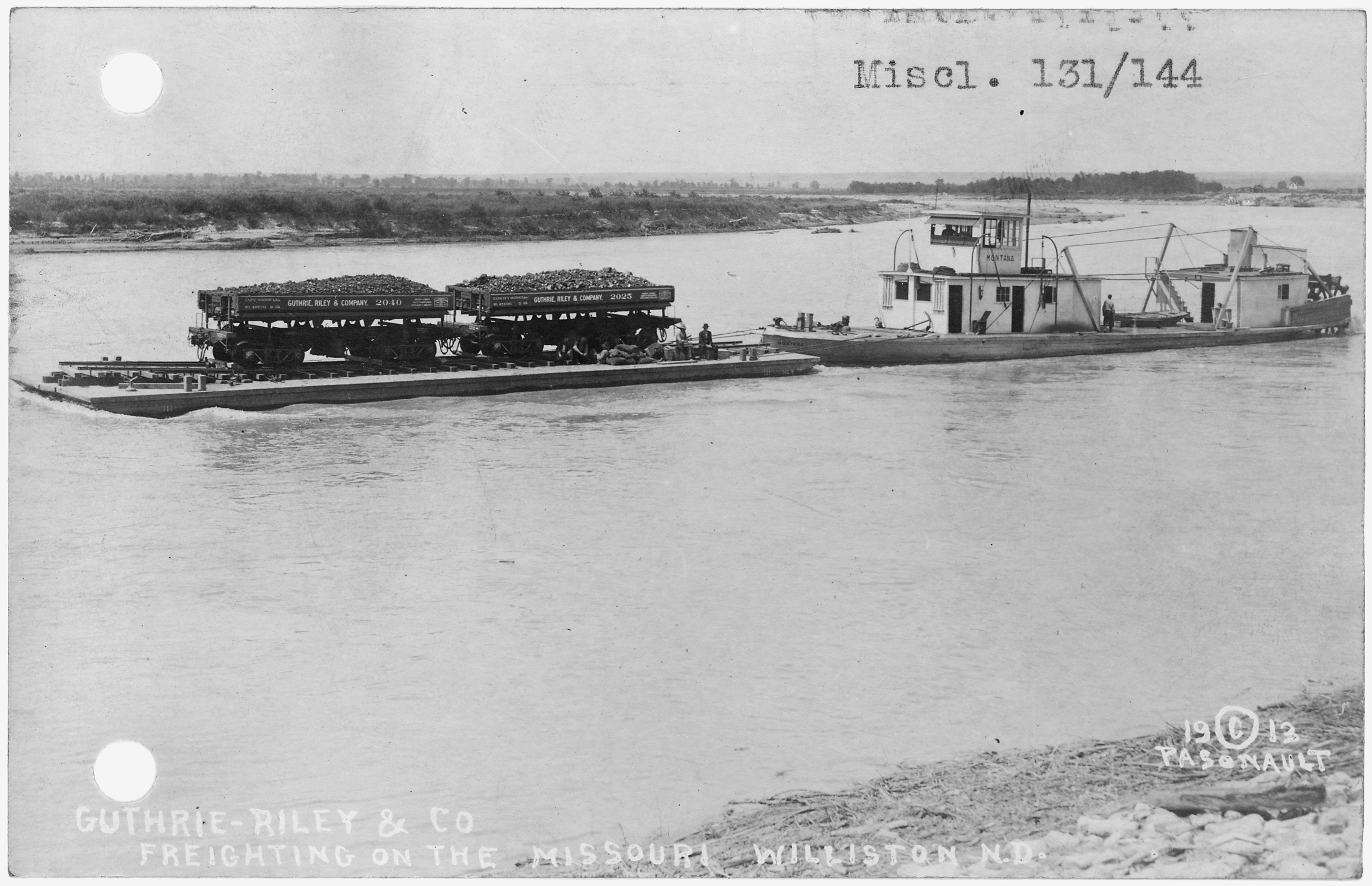 File freighting on the missouri river at williston north for The williston