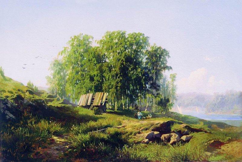 Fyodor Vasilyev In the vicinity of St Petersburg 10980.jpg