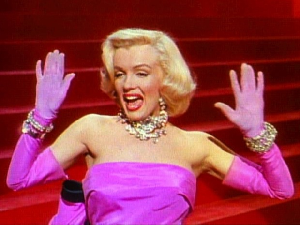 """Nella foto: Marilyn Monroe in """"Gli uomini preferiscono le bionde"""" (1953)"""