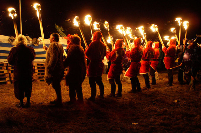 Guisers at Norik Up Helly Aa - geograph.org.uk - 702936.jpg