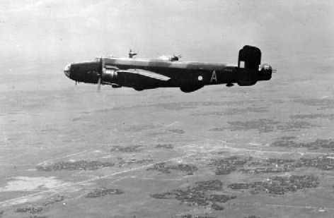 "Halifax ECM aircraft 1341 Flight RAF over India 1945.jpg A Royal Air Force Handley Page Halifax B Mark III (PN369 ""A"") of No. 1341 (Radio Countermeasures)"