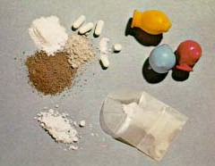 Heroin in pill and powder forms