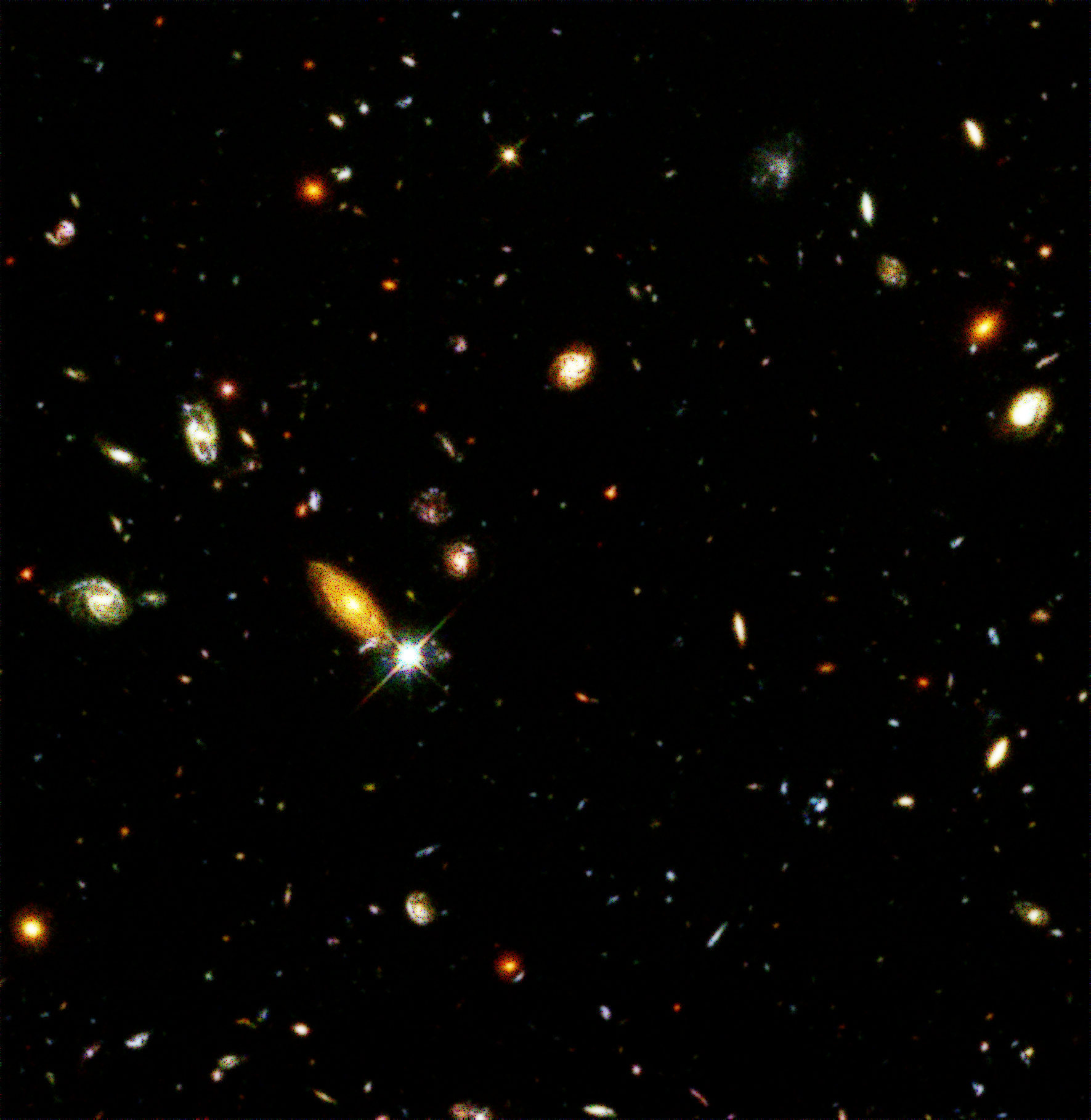 Shot from the Hubble's deep field.