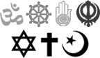 From commons.wikimedia.org/wiki/File:Icon-religion.png: Icons-religion