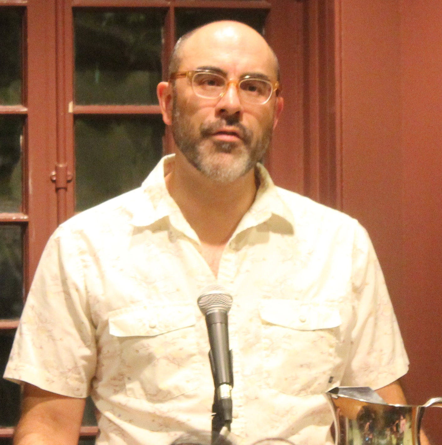 J. Robert Lennon speaking at the [[Kelly Writers House