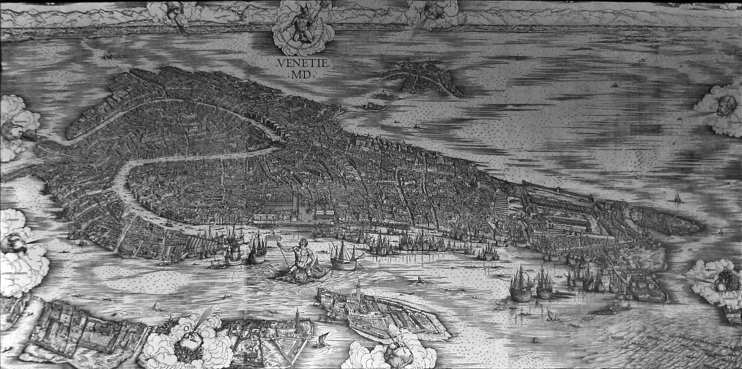 Mapping Venice Searching The De Barbari Map The Venice Atlas - Map of venice 1500
