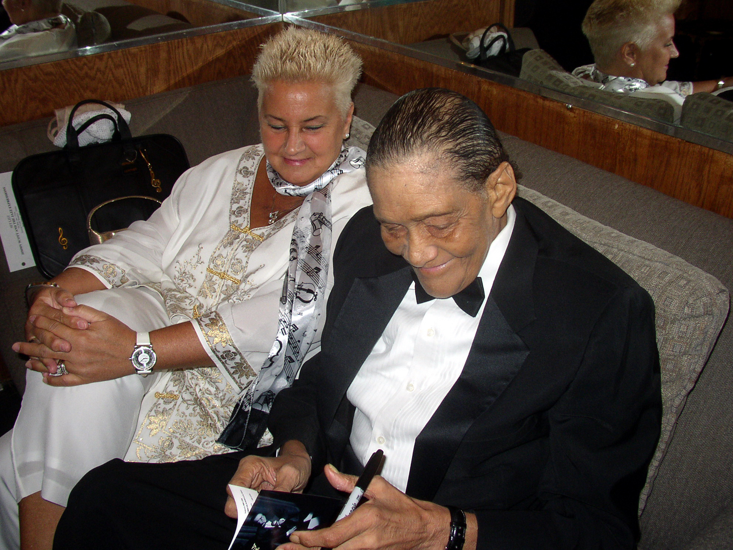 Jimmy Scott, at a jazz club in NYC, 2004