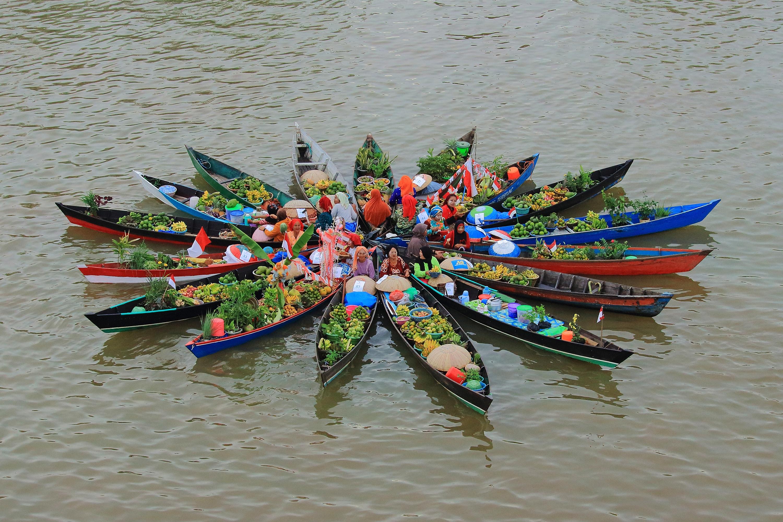 Banjarmasin, Kalimantan Selatan, Pasar Terapung, South Borneo, Kalsel,
