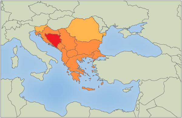 Balkan Gebiet