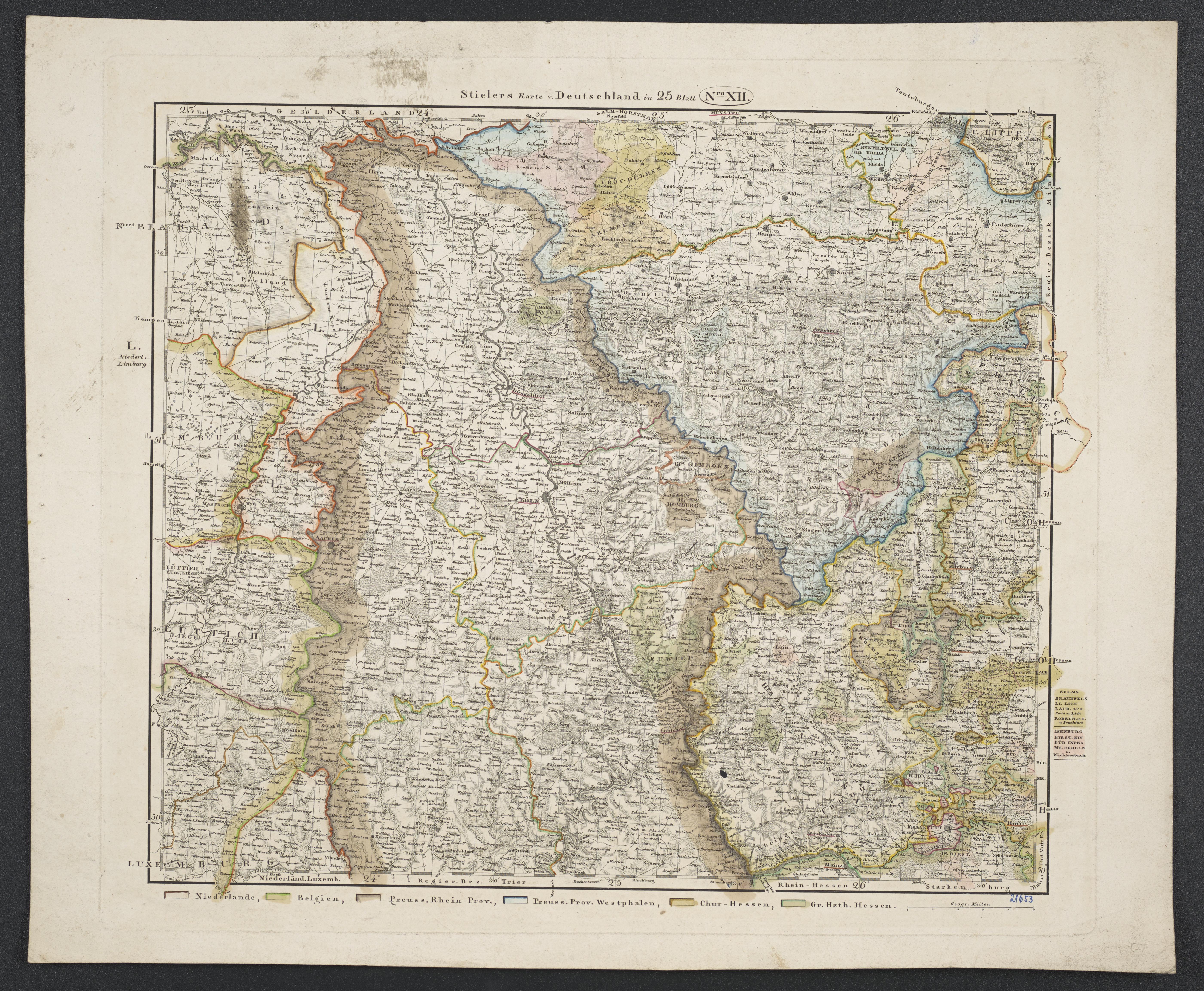 Köln Karte Deutschland.File Karte Von Deutschland Dem Königr Der Niederlande Und Der