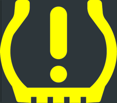 low tire pressure light symbol