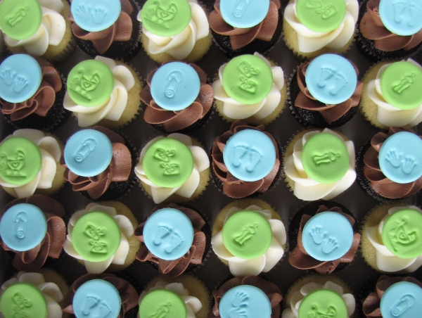 Baby Shower Cupcakes Blue ~ File lime and blue baby shower mini cupcakes g