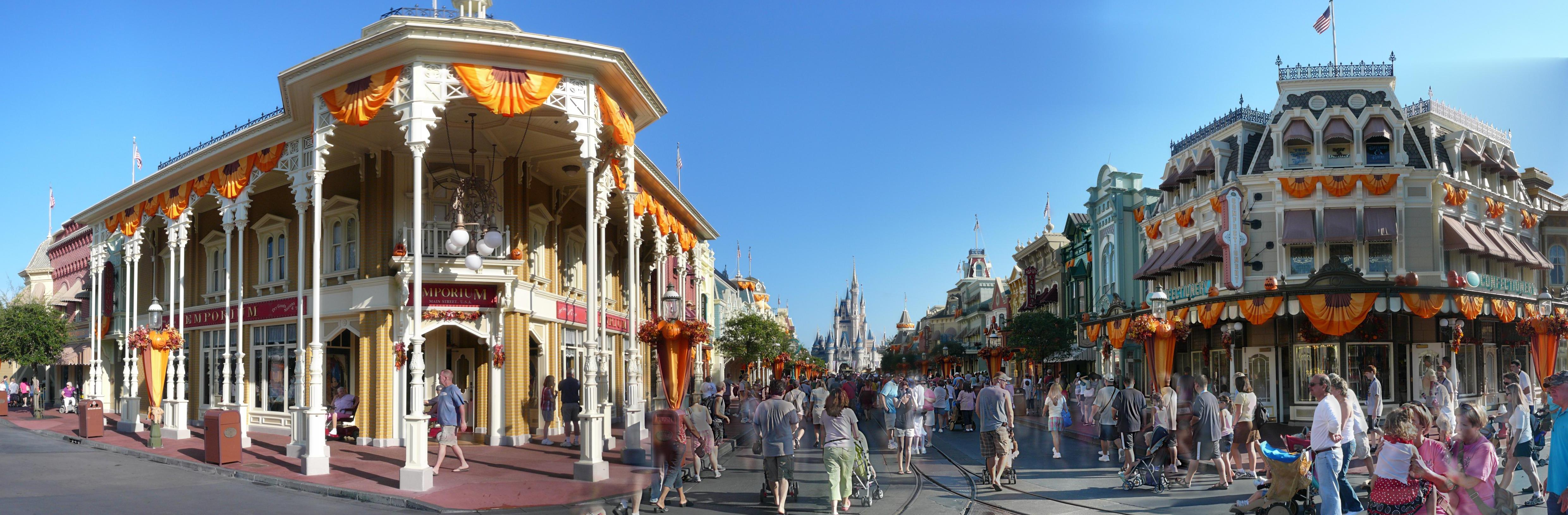 File main street during day magic kingdom panorama 2009 3985541190