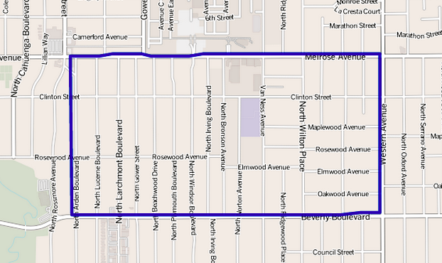 File Map Of Larchmont Neighborhood Los Angeles California Png