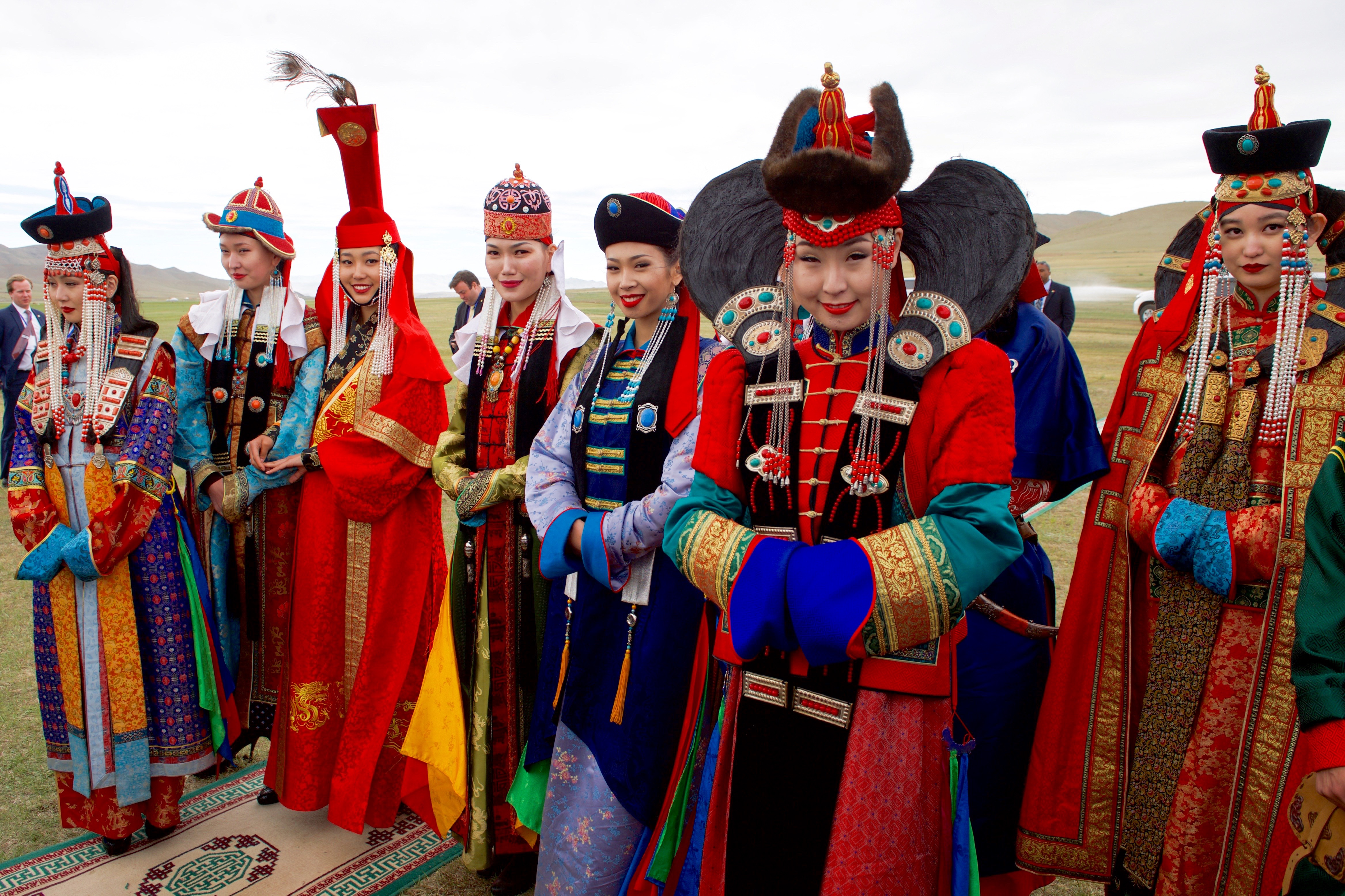 Mongolian wrestler/'s traditional outfitMongolian national clothing