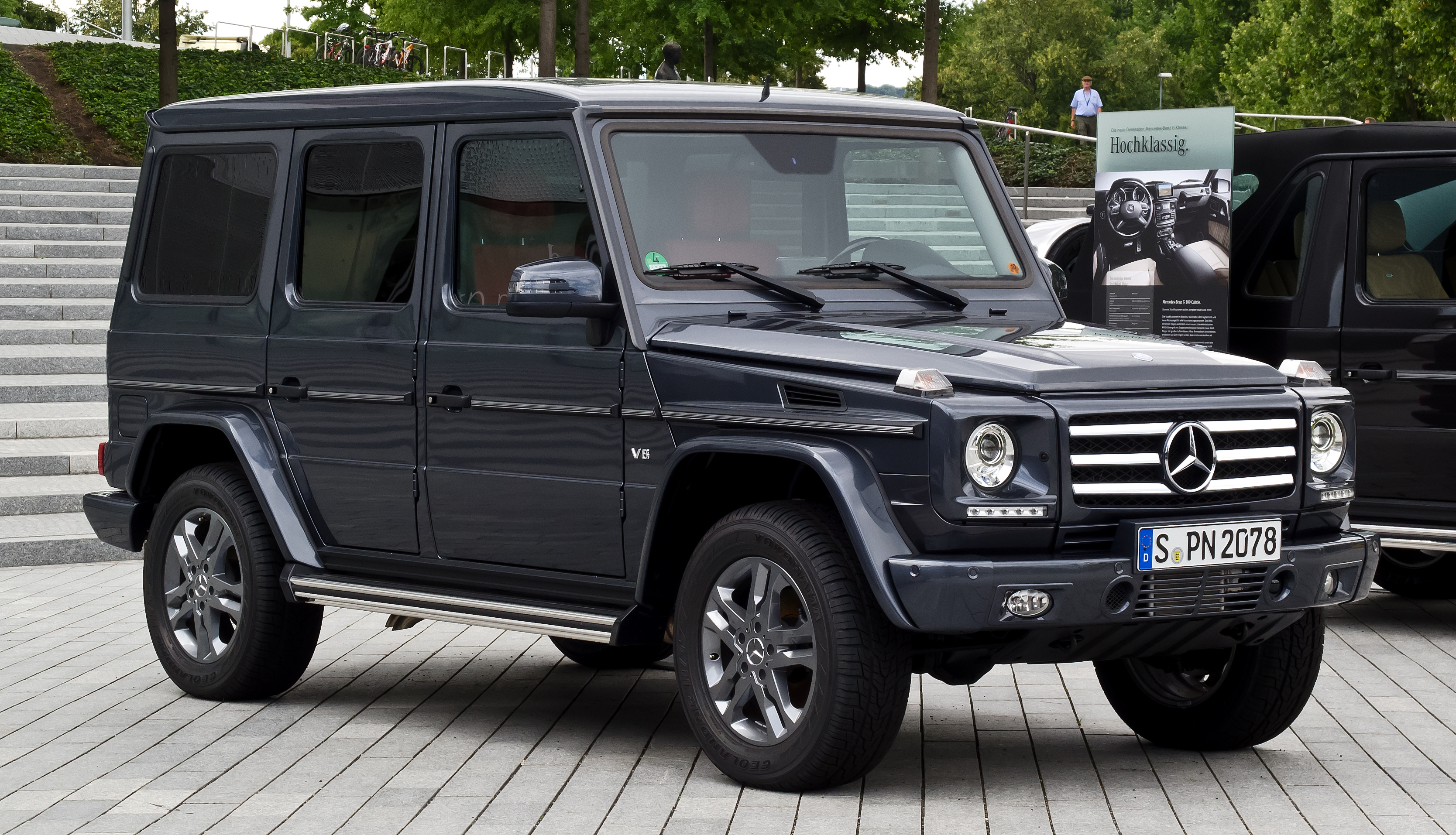 Datei Mercedes Benz G 500 Sport Paket W 463 3 Facelift Frontansicht 7 August 2012