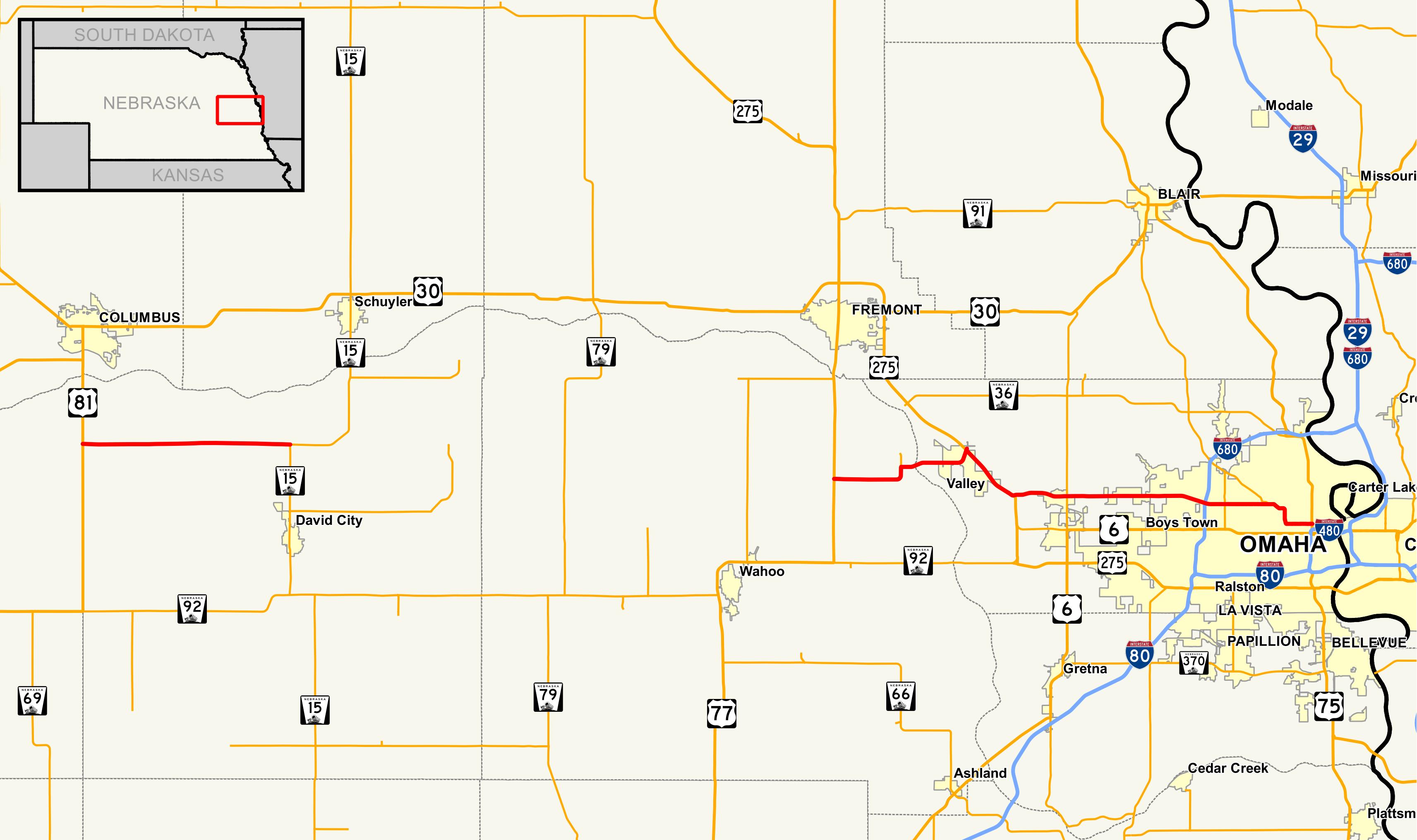 File Nebraska Highway 64 Map Png Wikipedia
