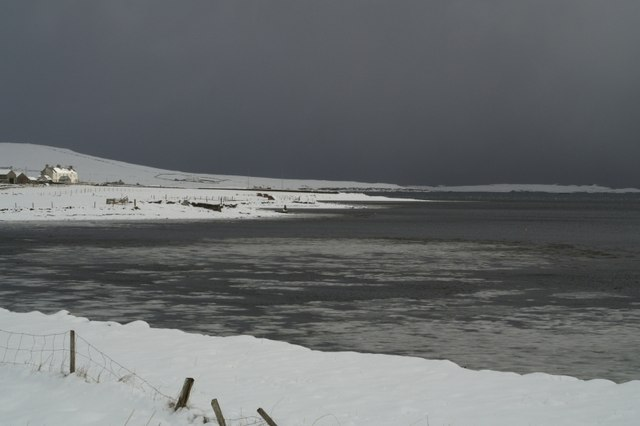 File:North shore of Baltasound voe in the snow - geograph.org.uk - 531247.jpg