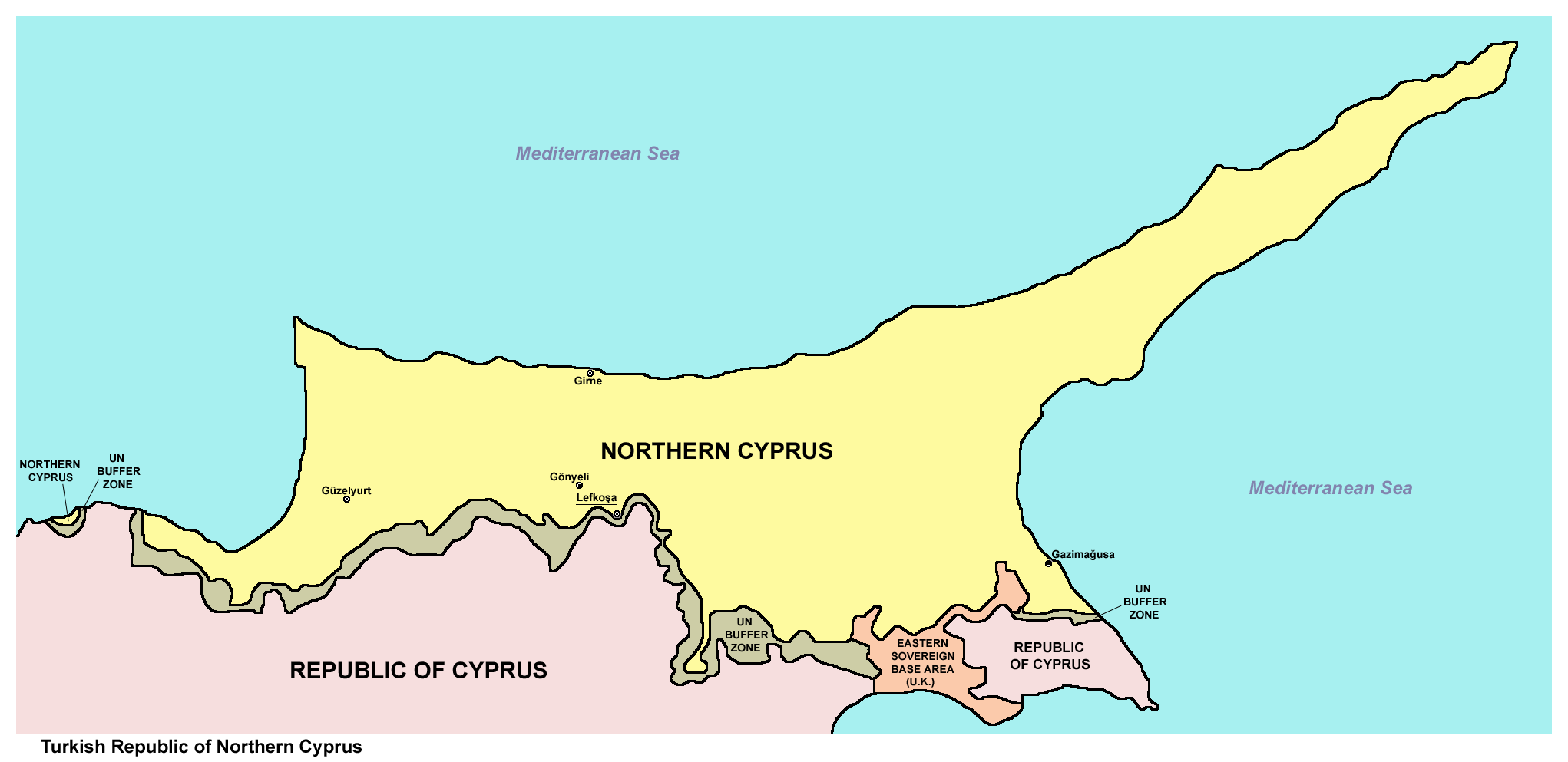the history of cyprus Cyprus is a large island located in the eastern mediterranean sea, east of greece, south of asia minor, west of the levant, and north of egypt the.