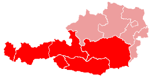 Map of the ecclesiastical province of Salzburg