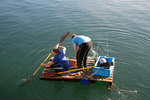 Man Fishing Boat Cake Topper