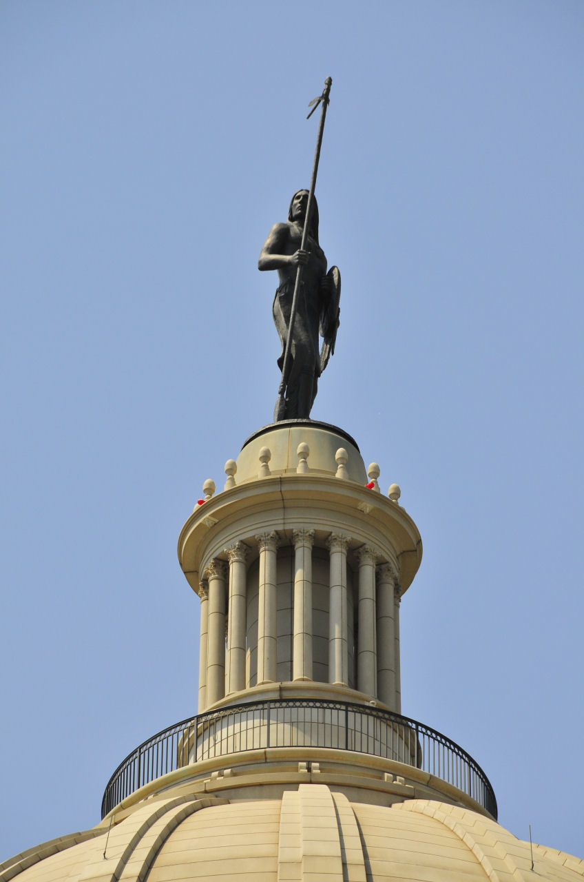 Dome of Oklahoma capitol