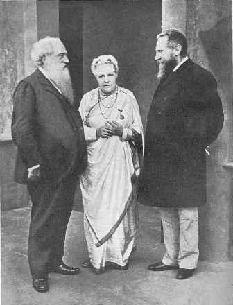 Г. Олкотт (слева), Анни Безант и Ч. Ледбитер в Адьяре, (1905).