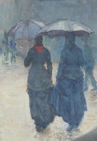 Woman With Umbrella Embroidery Design