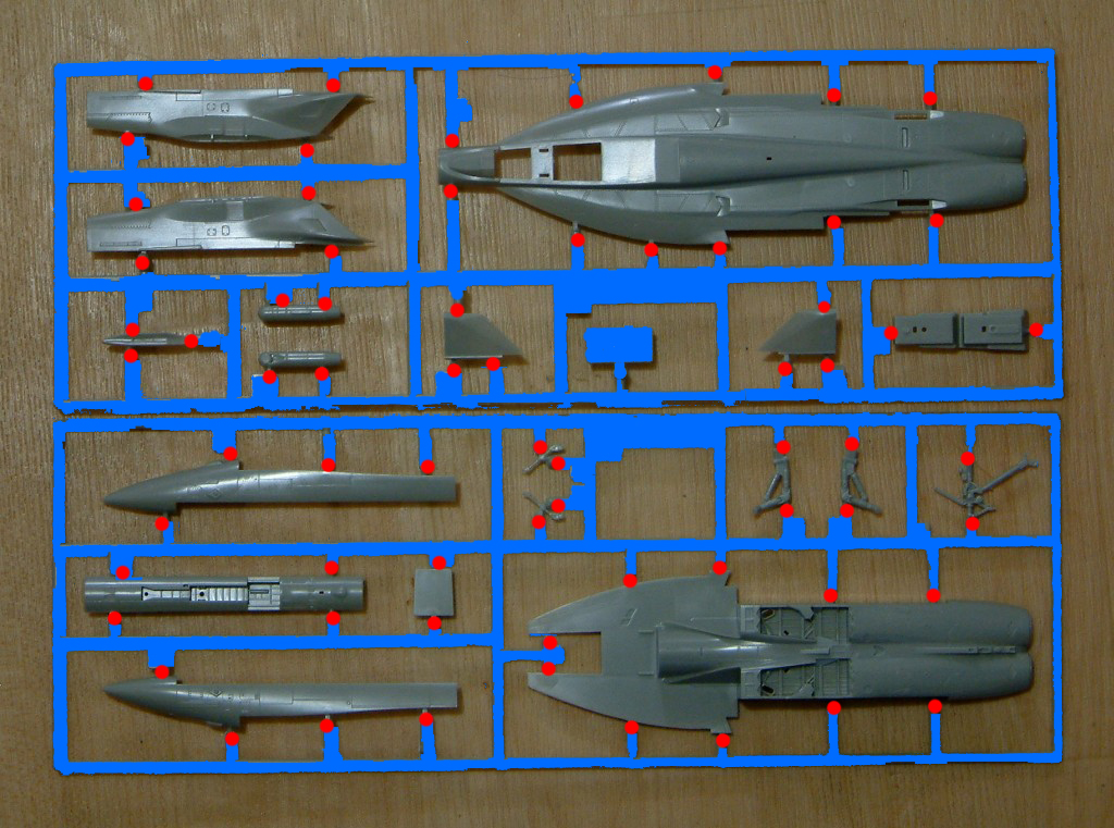 Модель из пластика самолет