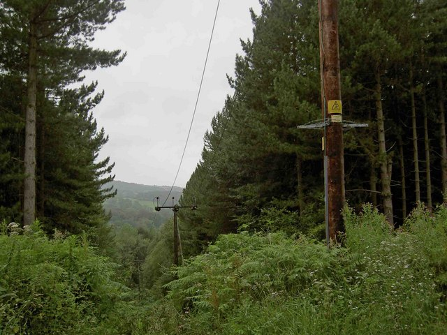 Power lines through Wharncliffe woods - geograph.org.uk - 1415545