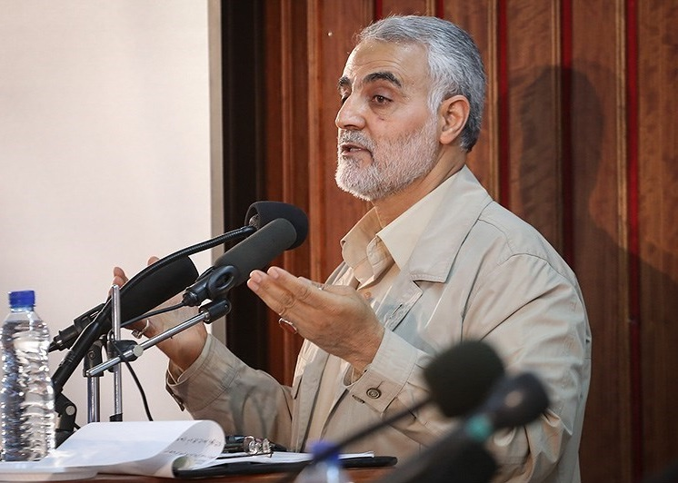 Qasem Soleimani speaking at Qom 02.jpg