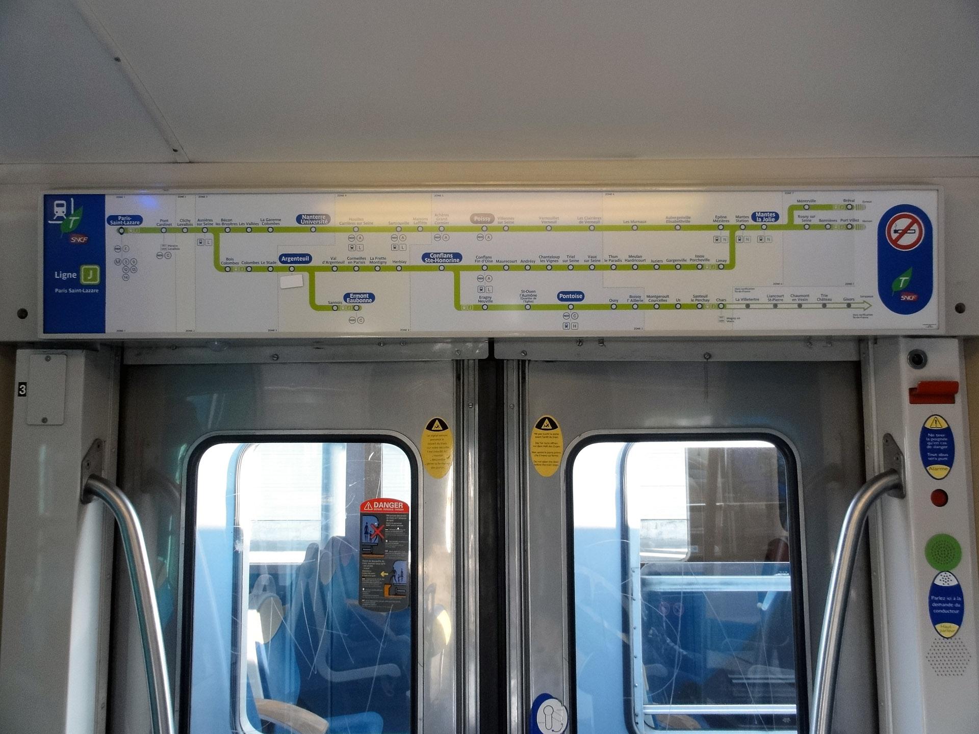 Fichier rame inox de banlieue plan de la ligne j du wikip dia - Transilien prochain train ...
