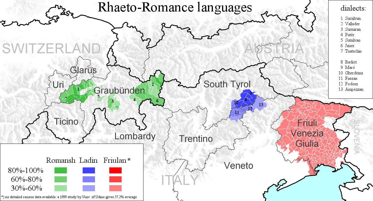Talijanski neofašisti : Titovi partizani : zločinci i ubojice - Page 4 Rhaeto-Romance_languages
