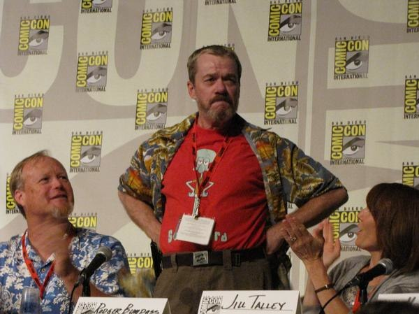 Rodger Bumpass standing at Comic-Con panel (2009).jpg