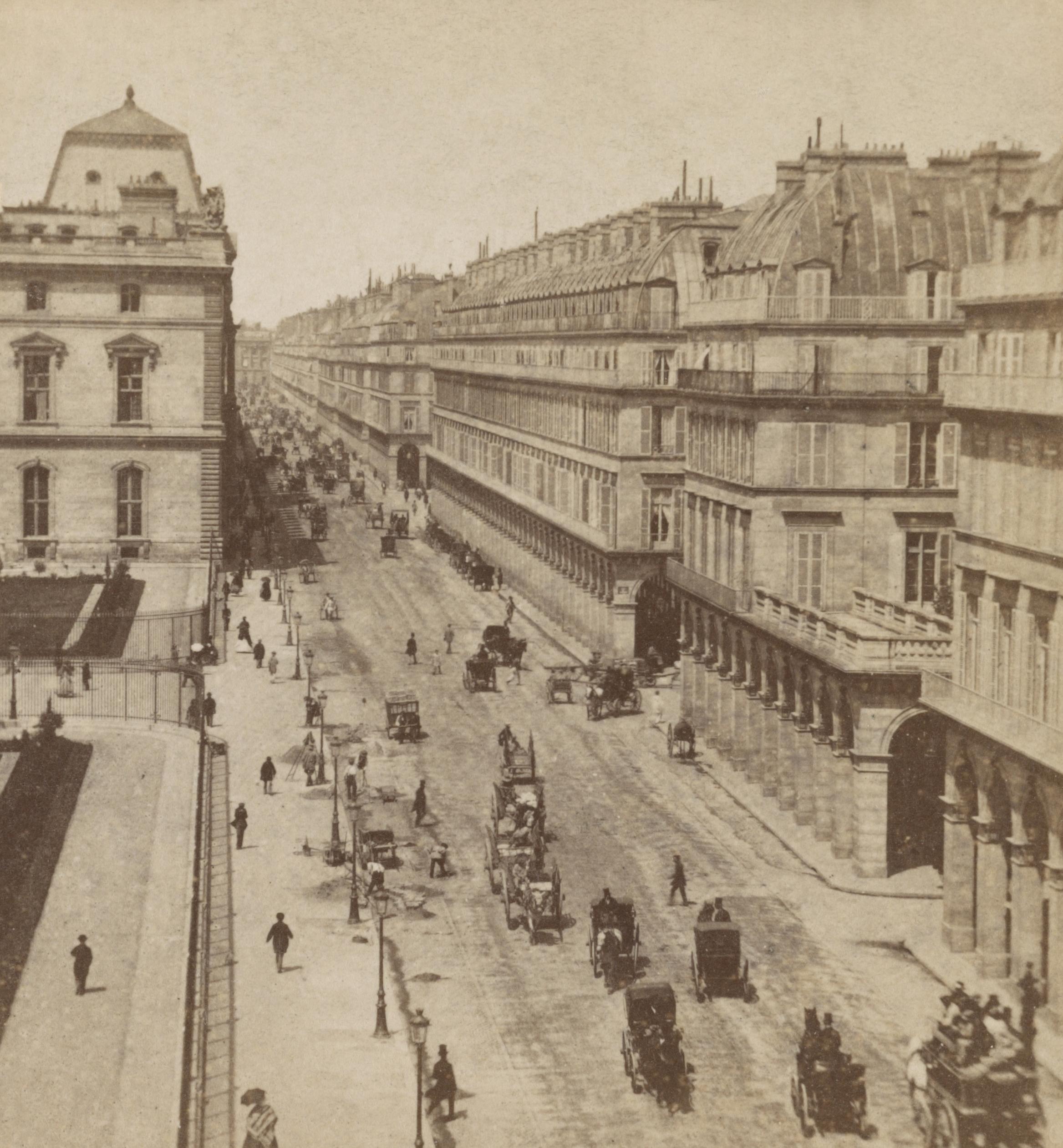 File Rue De Rivoli Et H U00f4tel Du Louvre  Between 1860 And
