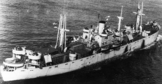 Paul Hamilton was one of many Liberty Ships supplying the United States Army via the southern trans-Atlantic route. This ship was destroyed by an aerial torpedo while carrying ammunition in convoy UGS 38.
