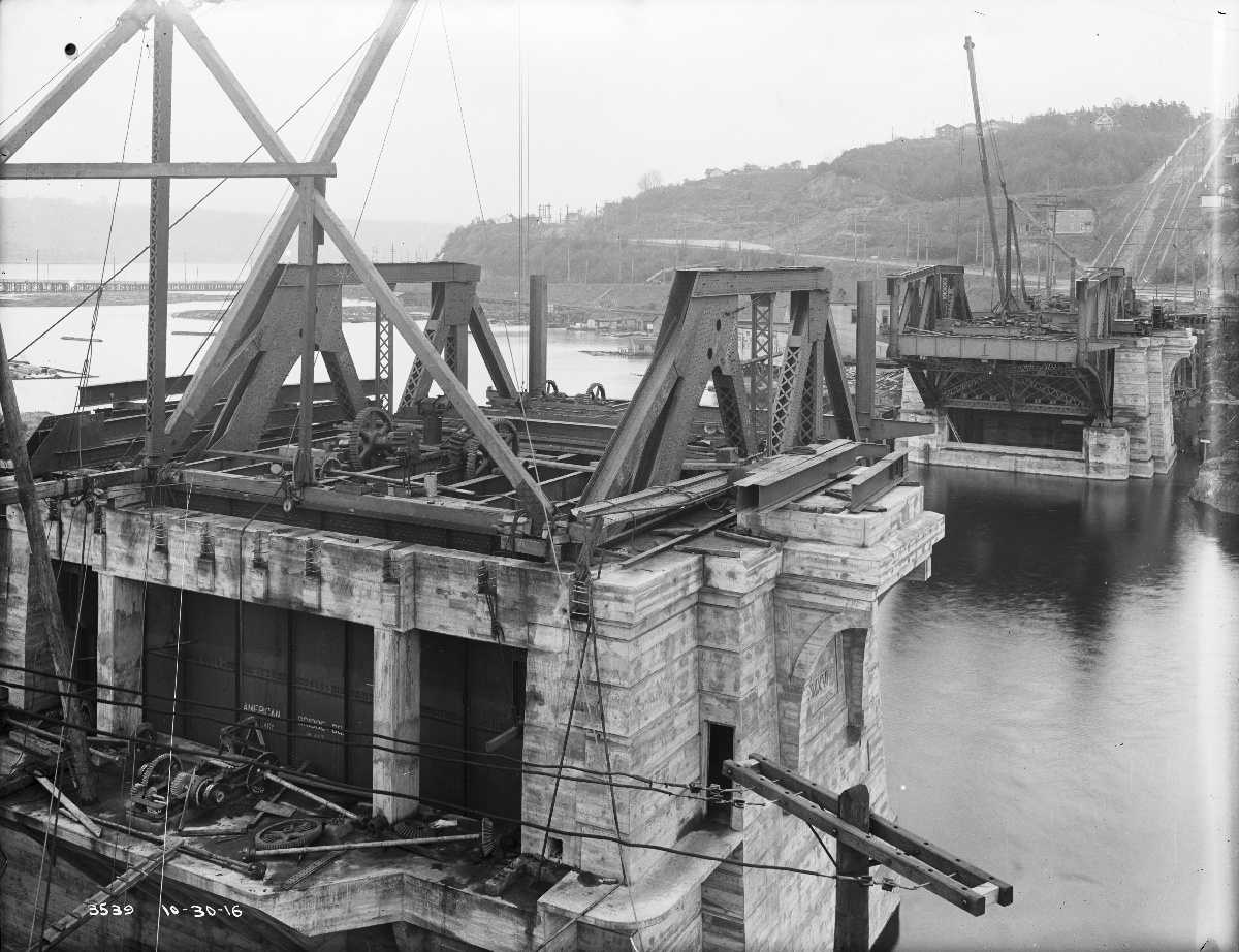 File Seattle Fremont Bridge Under Construction 1916