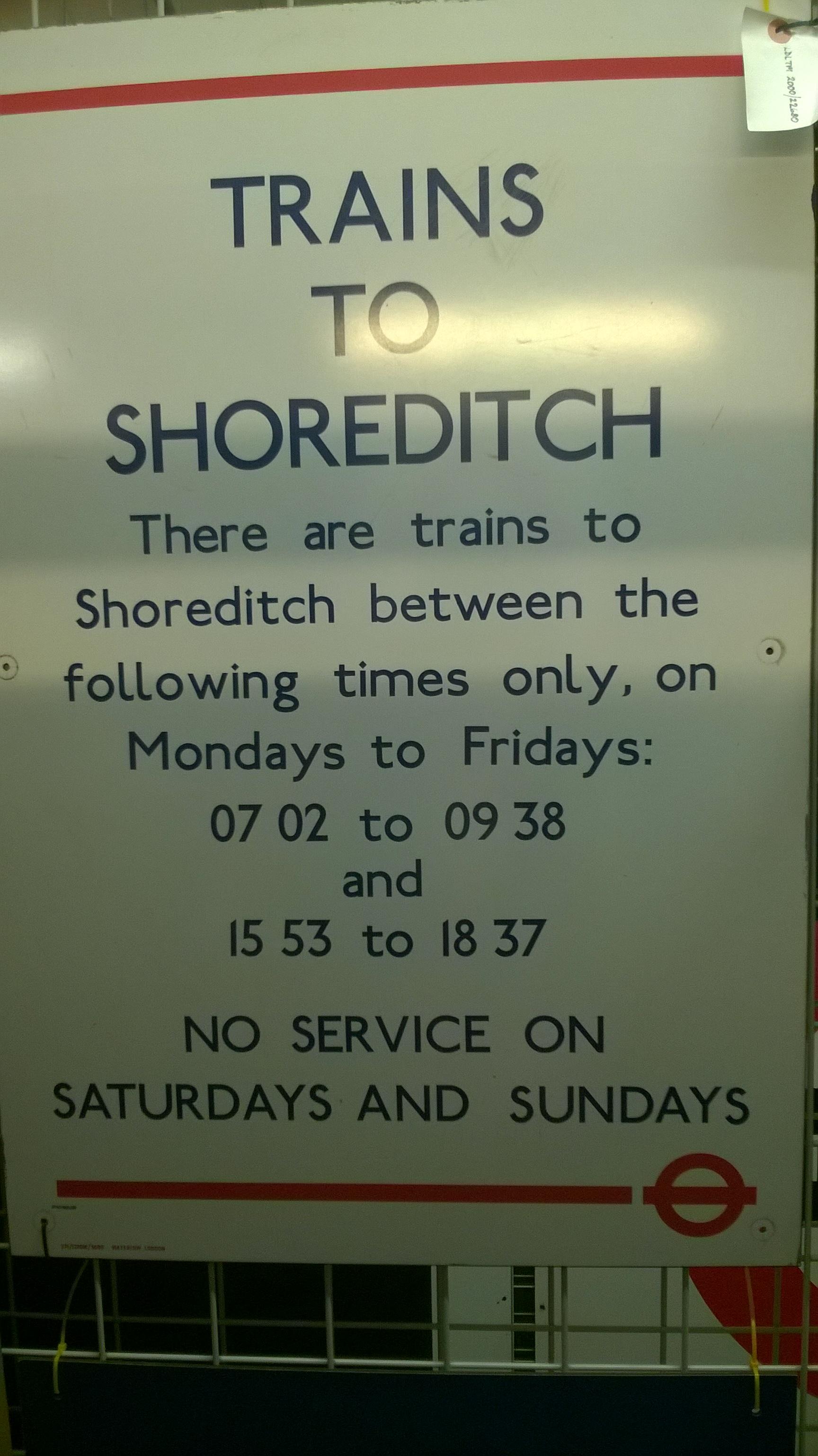 Shoreditch Station: Shoreditch Tube Station