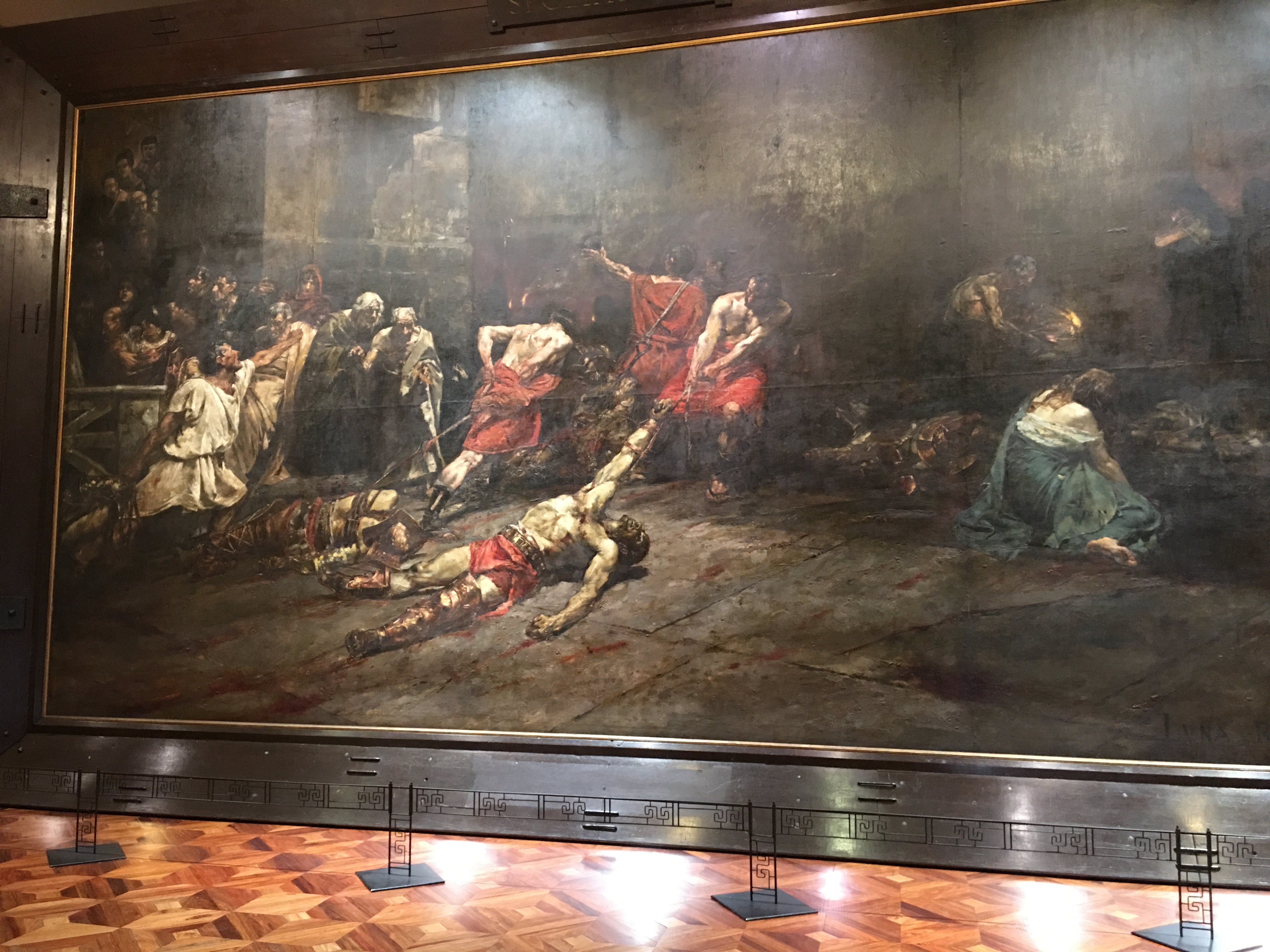 Spoliarium painting by Juan Luna - photo from Wikipedia