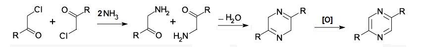 Staedel-Rugheimer Pyrazine Synthesis.png