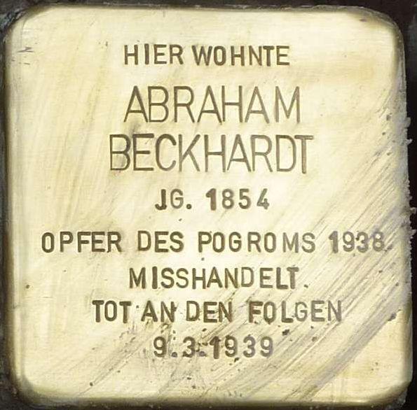 Stolperstein Alzey Abraham Beckhardt.jpg