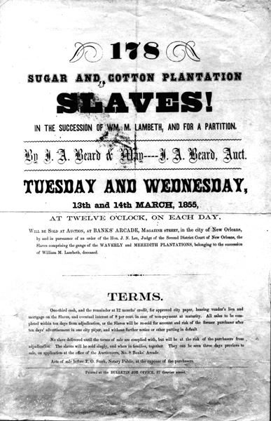 File Sugar And Cotton Plantation Slaves Auction New