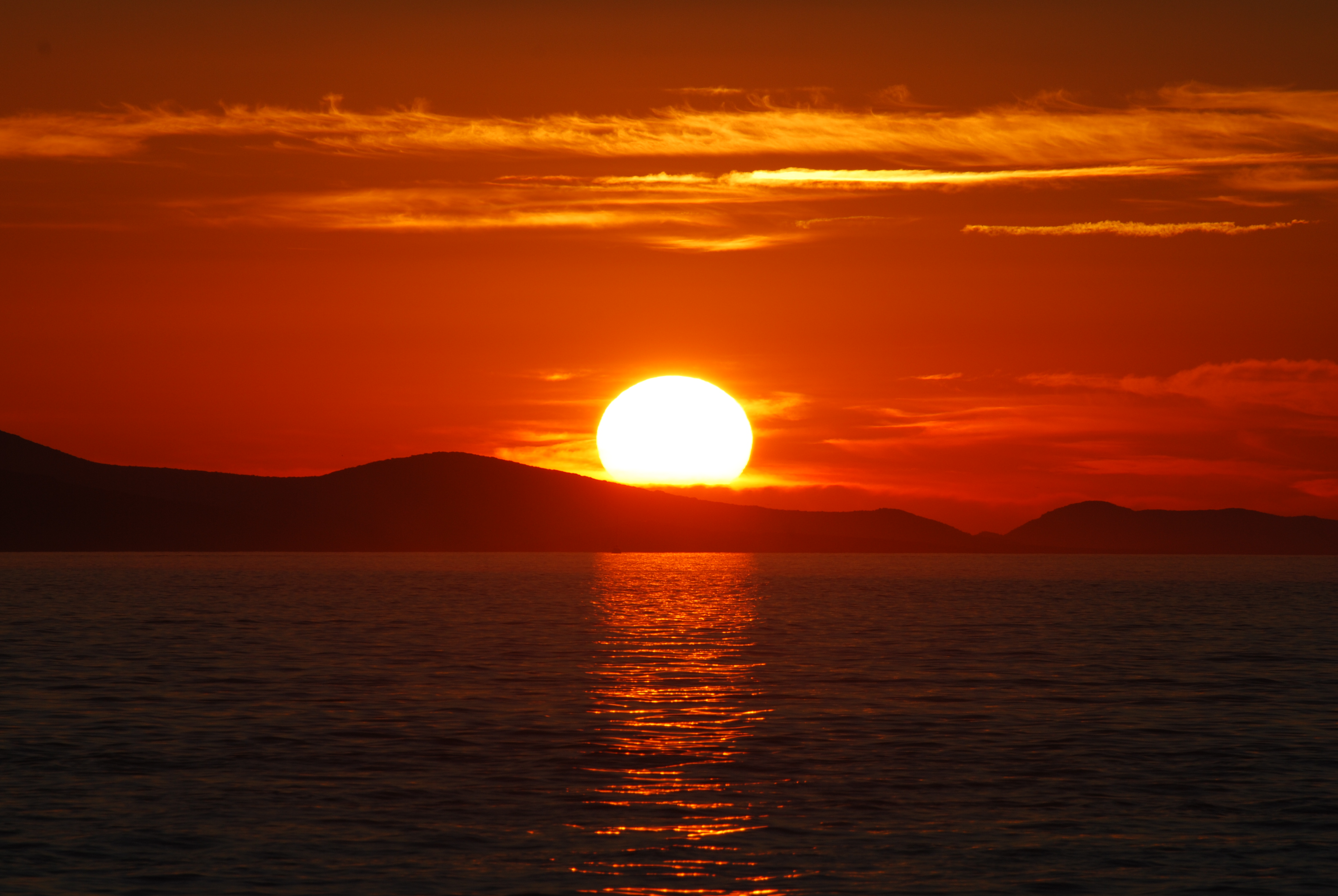 Description Sunset in ...