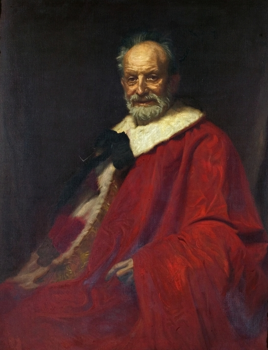 """The Late Lord Roe"" by Ernest Townsend The Late Lord Roe (1832-1923) by Ernest Townsend died 1944.jpg"