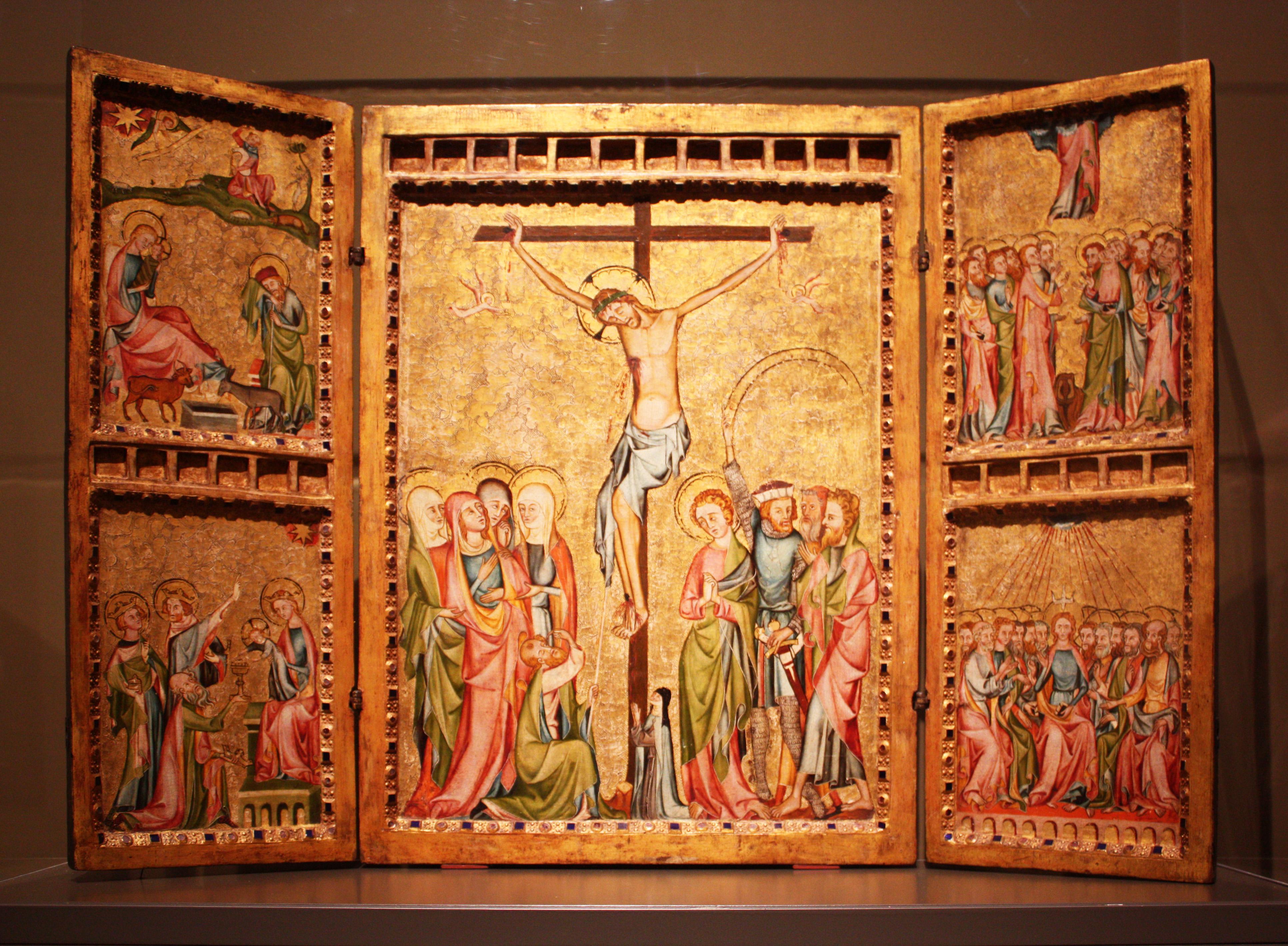 datei triptychon der ehemalige klosterkirche st klara k ln 1340 50 jpg wikipedia. Black Bedroom Furniture Sets. Home Design Ideas